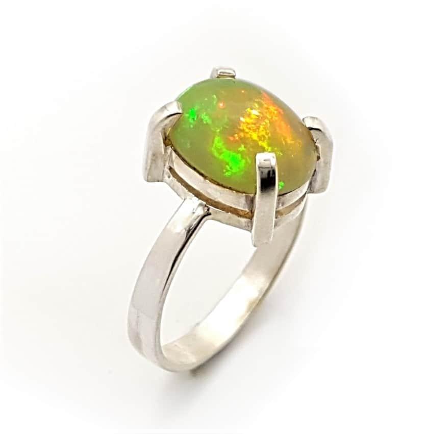 anillo ópalo en plata rf. 265008758