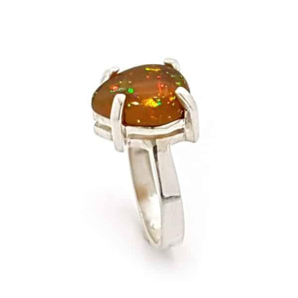anillo de ópalo de Etiopía rf. 230148862 realizado en plata (1)