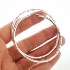 aros plata 64 mm. de diámetro