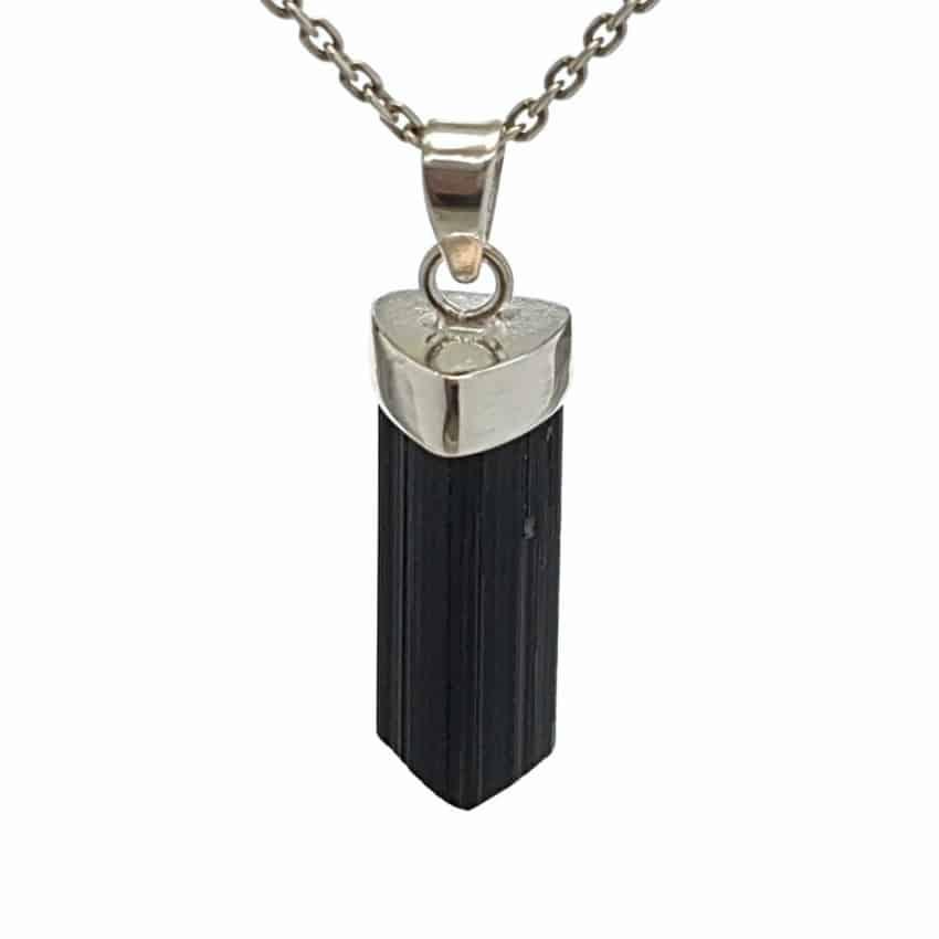 Colgante cristal de turmalina negra – chorlo de Brasil