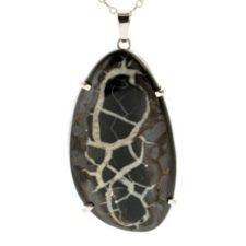 Colgante roca septaria en plata (3)