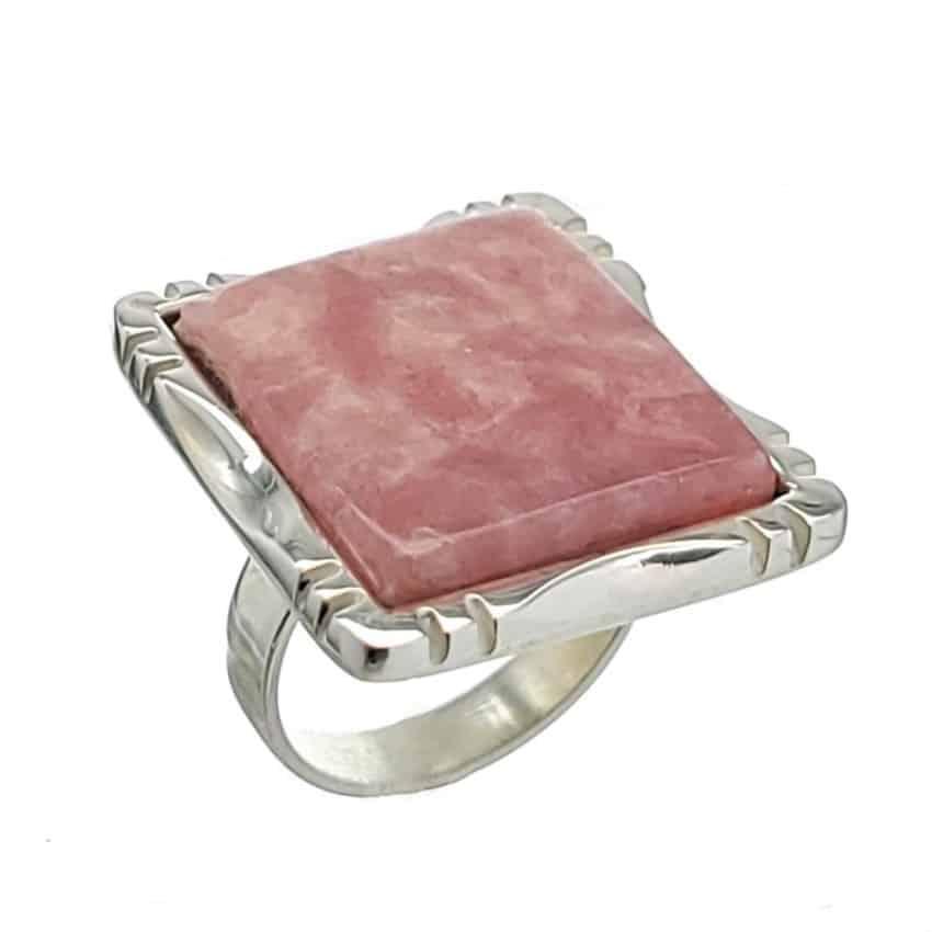 anillo de plata con piedra de rodocrosita (2)