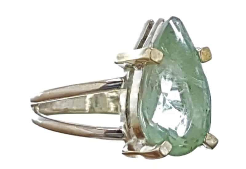 Anillo de fluorita en plata de ley talla 13