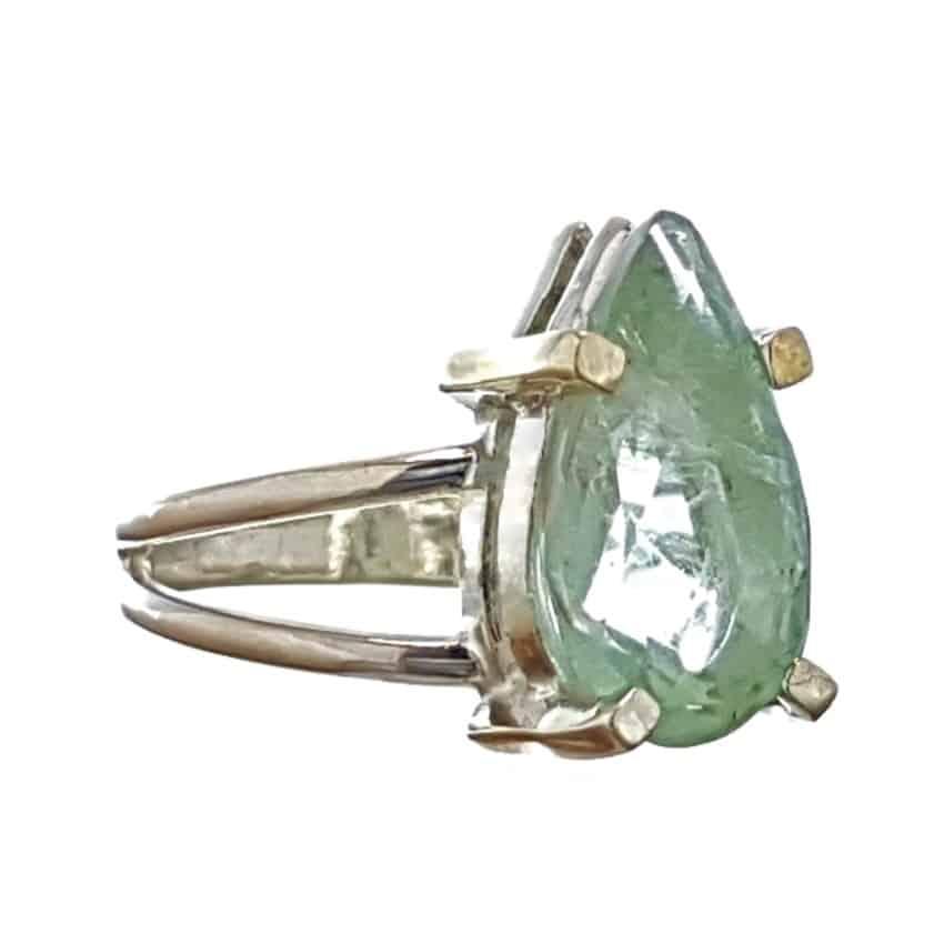 11. Anillo de plata y lágrima de fluorita (2)