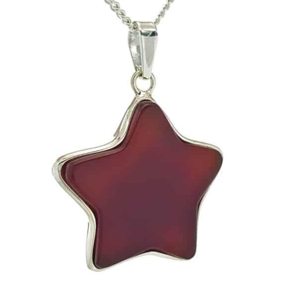 Colgante estrella de ágata cornalina (1)bv