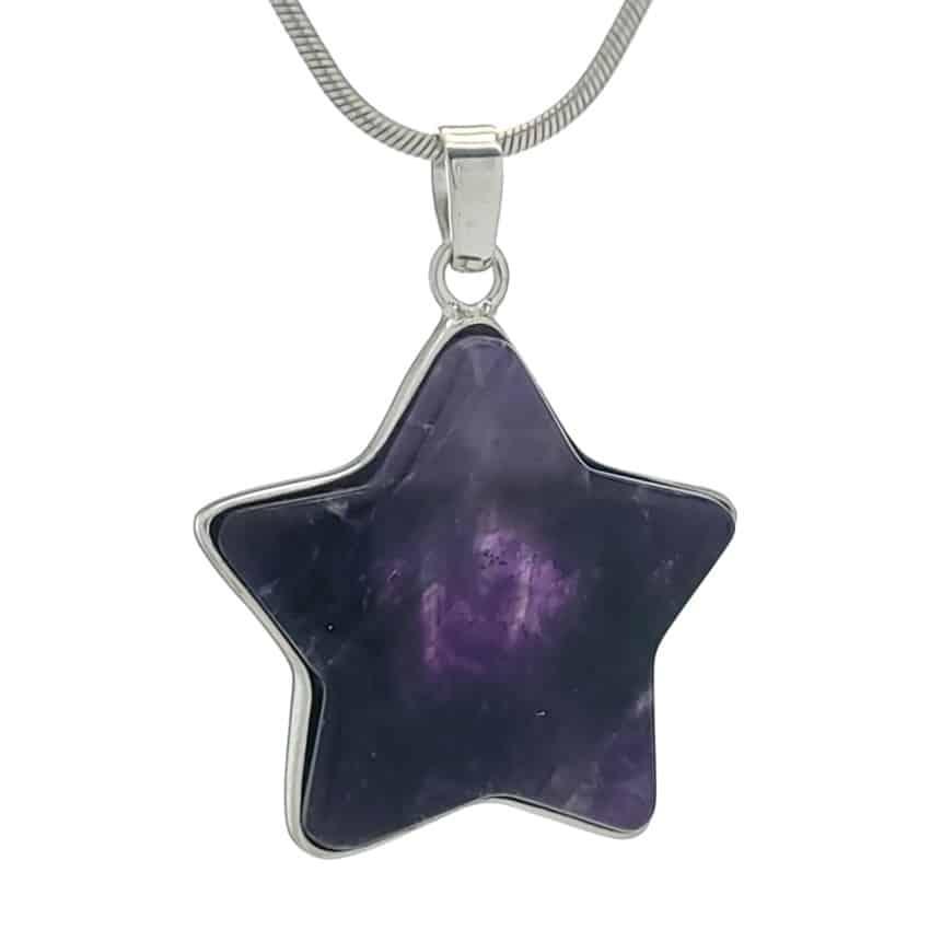 Colgante estrella de amatista en palta 925 (2)