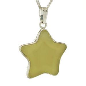 Colgante estrella de jade en plata