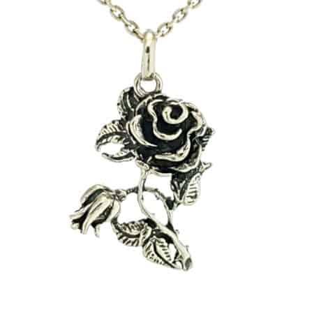 Colgante flor de rosal en plata (6)