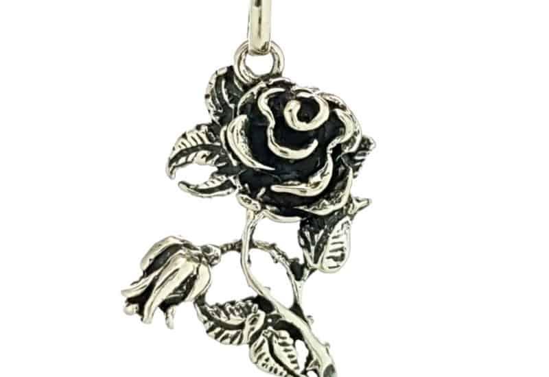 Colgante ramo de rosas en plata 925