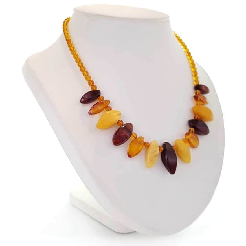 Collar de ámbar diseño cleopatra en tres colores (4)