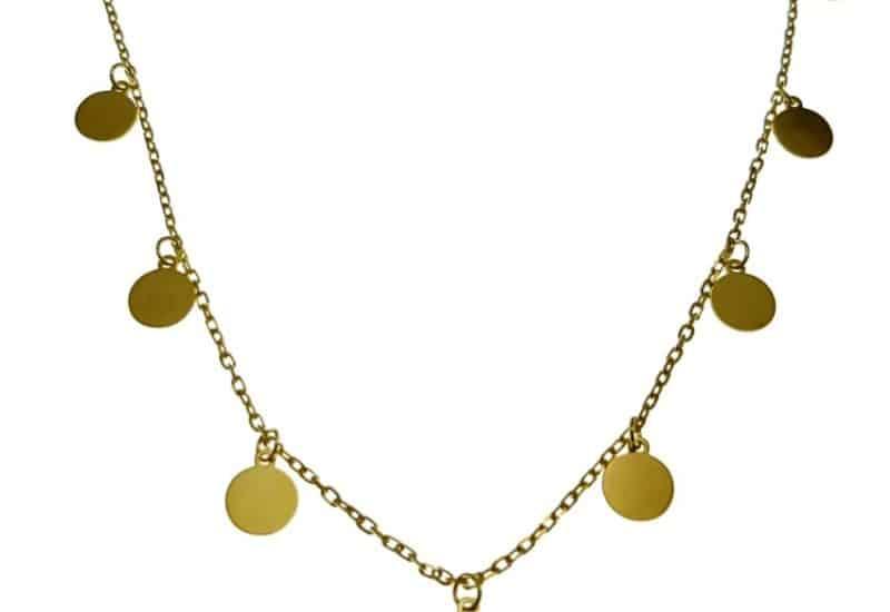 Gargantilla – Collar Chapitas doradas