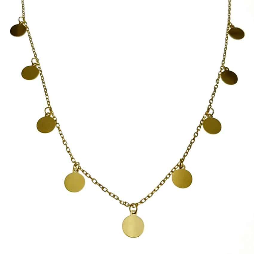 Gargantilla chapistas doradas en plata 925 (6)
