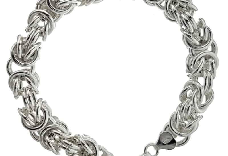 Pulsera diseño bizantino en plata 925 de 20,5 cms