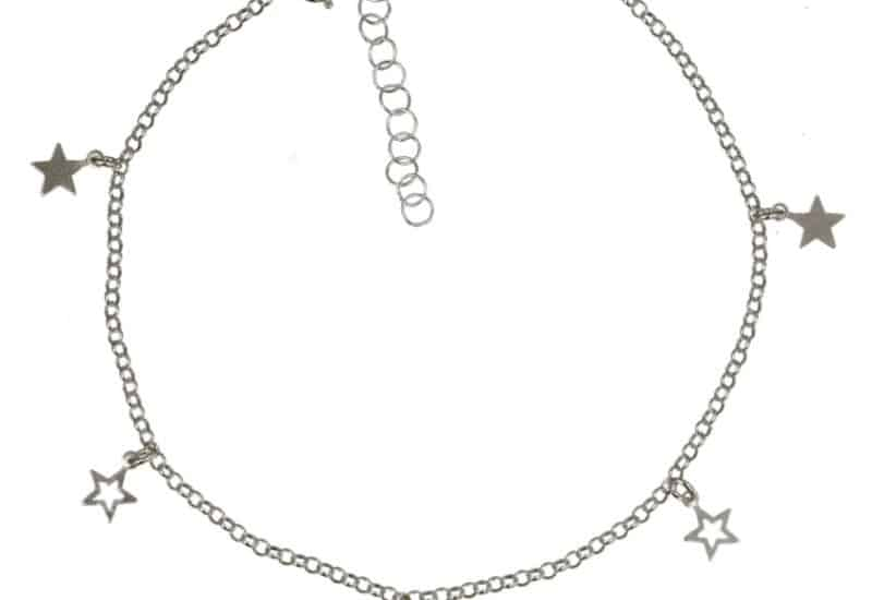 Tobillera de estrellas de plata 925