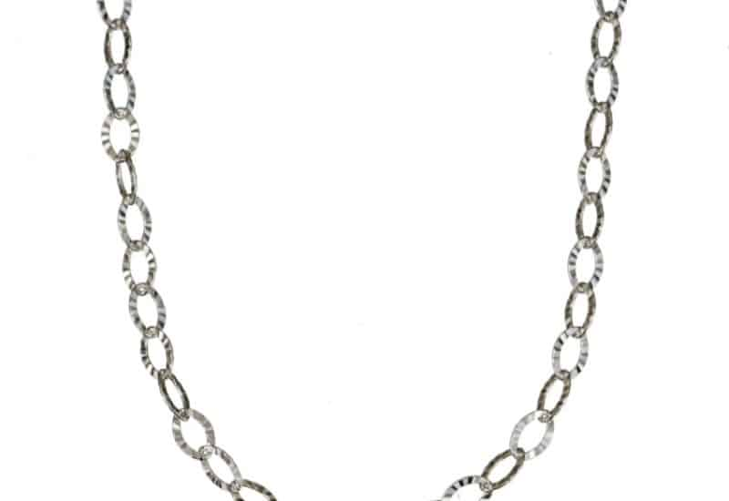 Tobillera eslabones ovales de plata 925