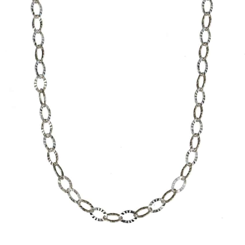 Tobillera de plata, eslabones ovalados (1)