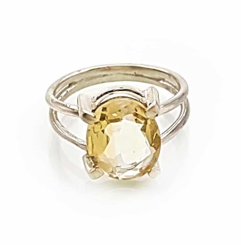 anillo de cuarzo citrino plata 925 (1)