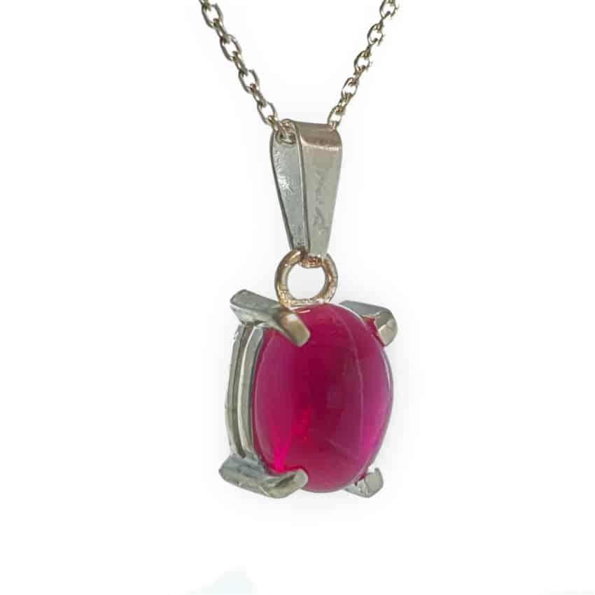 colgante plata rubí estrella de Tailandia (4)