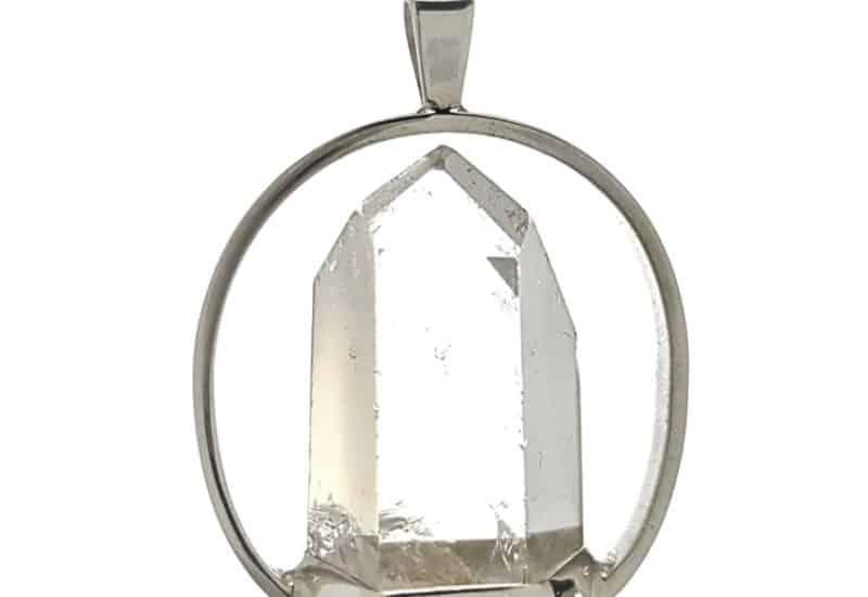 Punta de cuarzo transparente – diseño en columpio