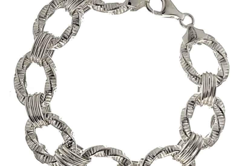 Pulsera de diseño 8 eslabones de plata