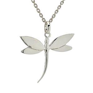 Colgante libélula en plata 925