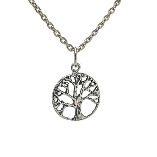 Colgante mini árbol de la vida en plata (3)