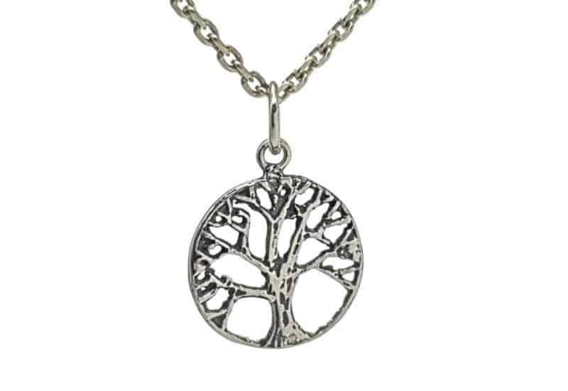 Mini árbol de la vida en plata efecto envejecido.