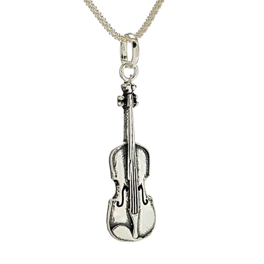 Colgante violín en plata 925 (3)