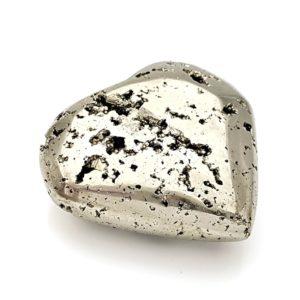 Corazón de 83 mm. de pirita cristalizada pulida