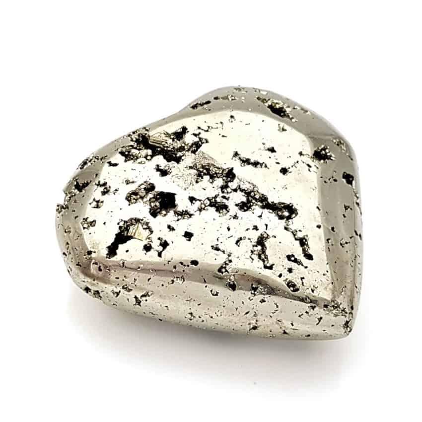 Gran corazón de pirita cristalizada pulida (3)