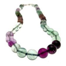 collar bolas de fluorita y cierre marinero de plata (9)