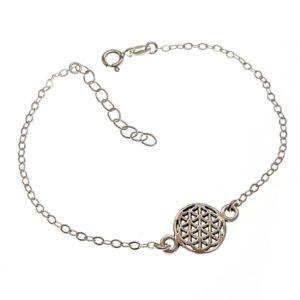 Pulsera símbolo flor de la vida en plata 925