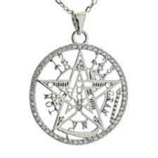 Colgante tetragramatón con filo de circonitas en plata 925 (3)