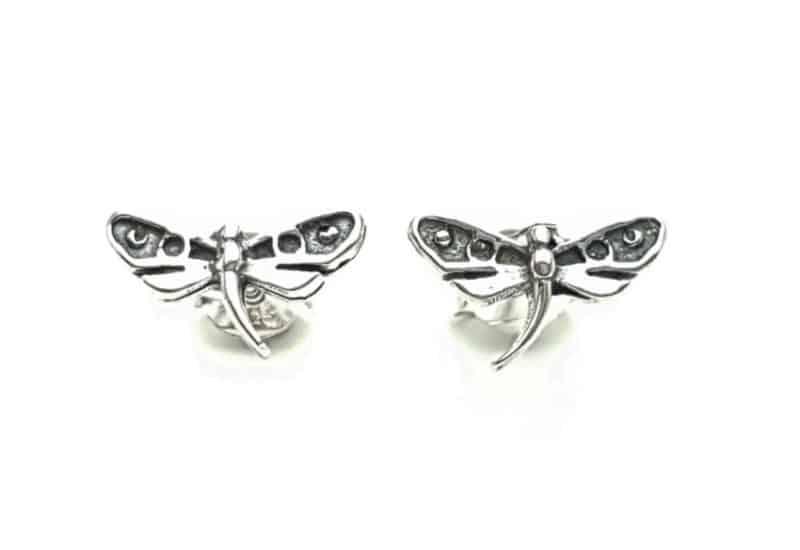 Pendientes libélula plata 925