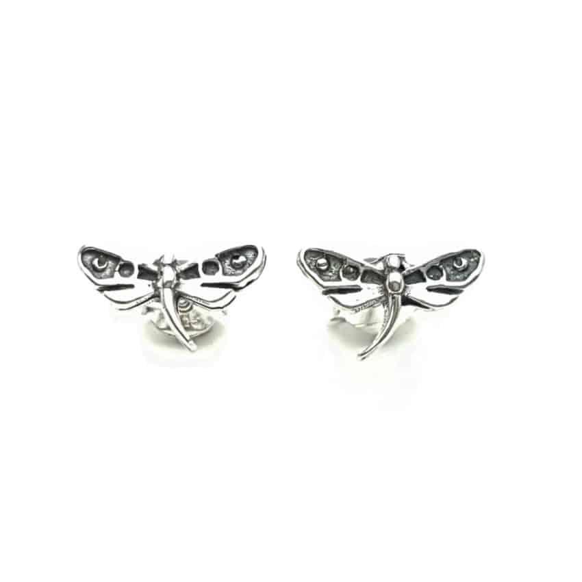 Mini pendientes libélula en plata (2)