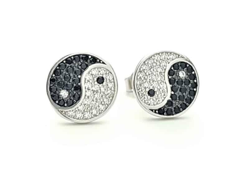 Pendientes símbolo ying yang