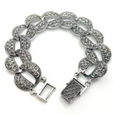 Pulsera exclusiva de plata 925 y marquesitas (1)