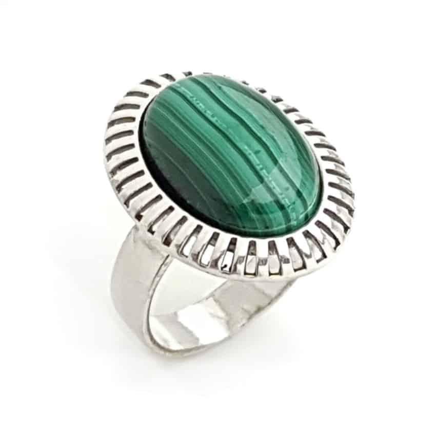 anillo malaquita plata 925 de 33,90€