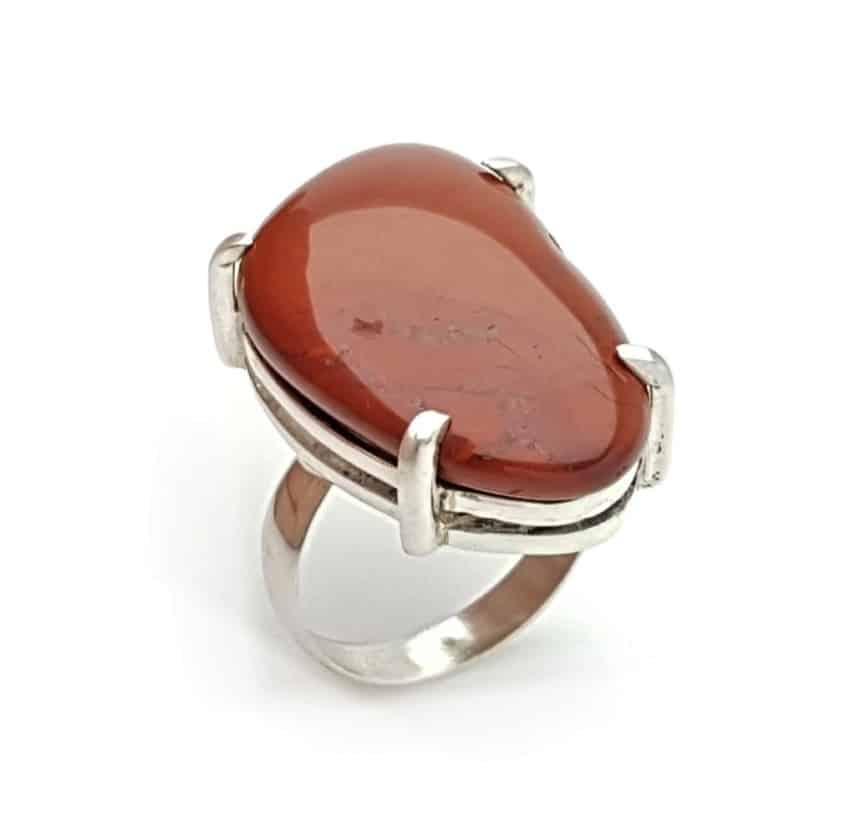 anillo piedra de jaspe rojo pulido en plata 925 (1)