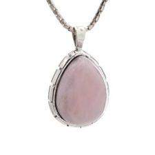 Colgante ópalo rosa en plata 925 (2)