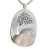 Colgante cuarzo rosa y árbol de la vida grabado en plata 925 (3)
