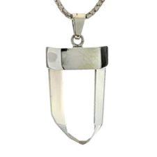 Colgante punta natural de cuarzo cristal de roca (2)