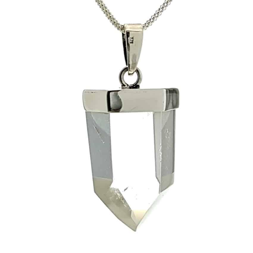 Cristal de cuarzo con fantasma en plata (3)