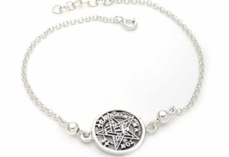 Pulsera Tetragramatón de plata