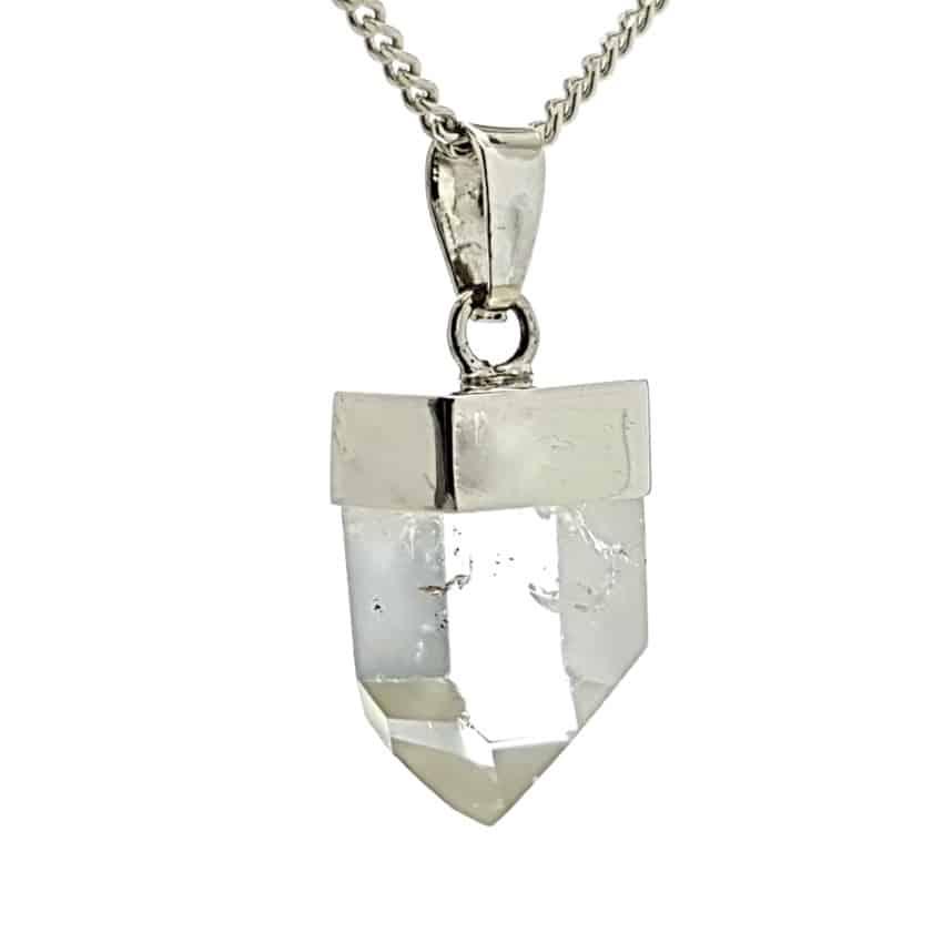 Punta de cuarzo natural en plata 925 (3)
