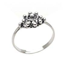 anillo mini botón charro tamaño pequeño de plata (1)
