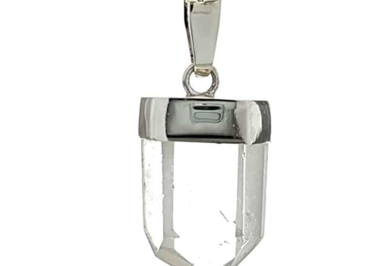 Colgante de cuarzo cristal natural en plata