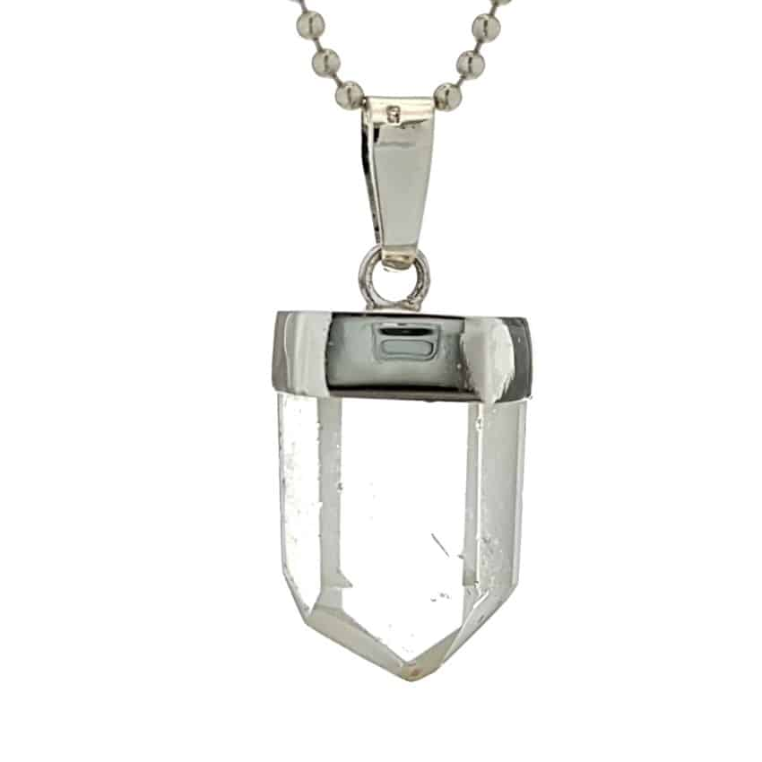 Colgante de cuarzo cristal natural en plata n2 (3)