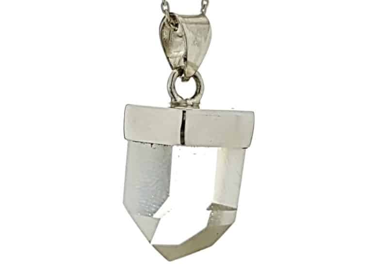 Colgante mini de cuarzo en plata
