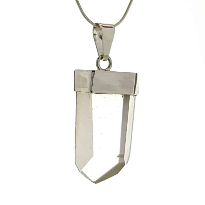 Colgante punta de cuarzo transparente en plata n7 (3)